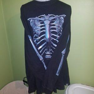 Neon Skeleton Ribcage Shirt